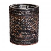 DecoStar™ Bronze Encased Glass Votive - 6""