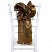 """DecoStar™ 9"""" Satin Flower Chair Accent - Bronze"""