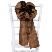 "DecoStar™ 9"" Crushed Taffeta Flower Chair Accent - Brown"
