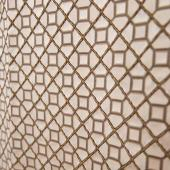 "Garnet Grid Accent Panel - Brown - 54"" Wide"