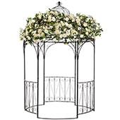 Brown Metal Gazebo - 10' high x 6' diameter