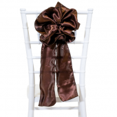 "DecoStar™ 9"" Satin Flower Chair Accent - Brown"