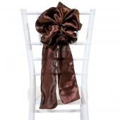 """DecoStar™ 9"""" Satin Flower Chair Accent - Brown"""