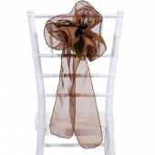 "DecoStar™ 9"" Sheer Flower Chair Accent - Brown"