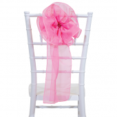 "DecoStar™ 9"" Sheer Flower Chair Accent - Bubble Gum Pink"