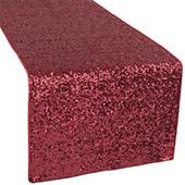 Standard Sequin Table Runner by Eastern Mills - Burgundy