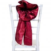 """DecoStar™ 9"""" Satin Flower Chair Accent - Burgundy"""