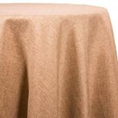 Burlap - Designer Fiesta Linen Broad Tablecloth by Eastern Mills - Many Size Options