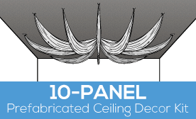 10-Panel Prefabricated Ceiling Decor Kit