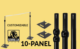 10-Panel Black Anodized Kits (70-120 Feet Wide)