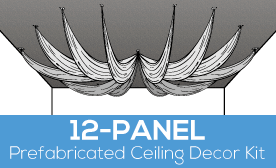 12-Panel Prefabricated Ceiling Decor Kit