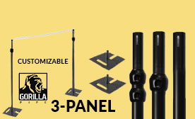 3-Panel Black Anodized Kits (21-36 Feet Wide)