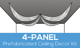 4-Panel Prefabricated Ceiling Decor Kit