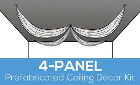 4-Panel Prefabricated Ceiling Decor Kit
