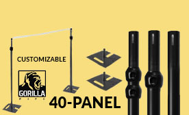 40 Panel Black Anodized Kits 280-480 Feet Wide