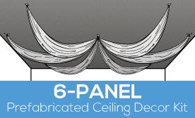 6-Panel Prefabricated Ceiling Decor Kit