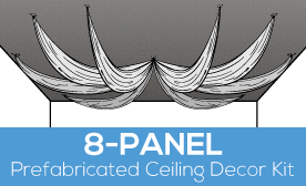 8-Panel Prefabricated Ceiling Decor Kit
