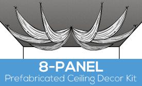 8-Panel Prefabricated Ceiling Decor Kit