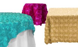 Rosette Tablecloths & Overlays