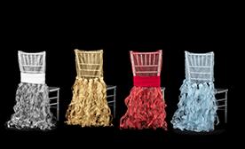 Spiral Taffeta & Organza Chair Cover