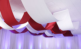 Custom Linear Ceiling Drape Kits