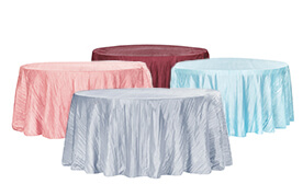 Accordion Crushed Taffeta Tablecloth - 120