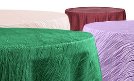 Accordion Crushed Taffeta Tablecloth - 132