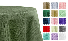 Accordion Crushed Taffeta Tablecloths