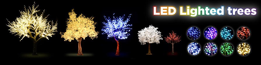 LED Lighted Trees