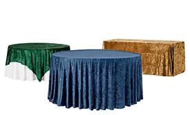Premade Velvet Tablecloths