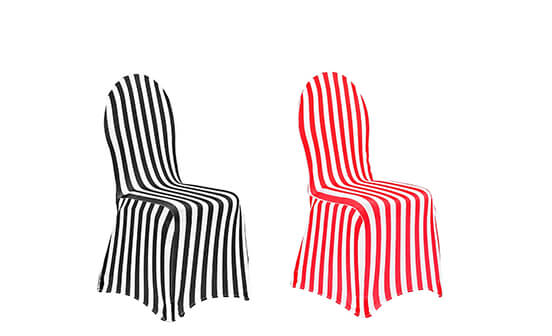 Striped Spandex Chair Covers