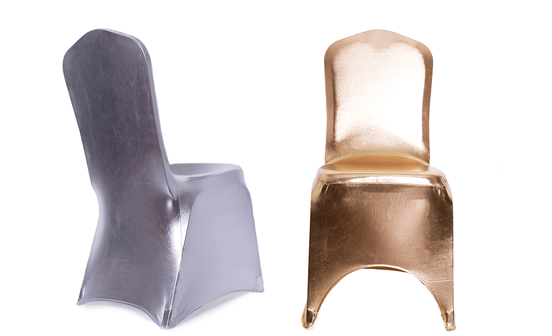 Metalic Spandex Chair Covers