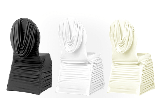 Swag Back Ruched Chair Covers