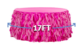 Spiral Table Skirts - 17 Foot