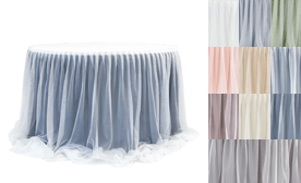 Two Tone Sheer & Tulle Table Skirts