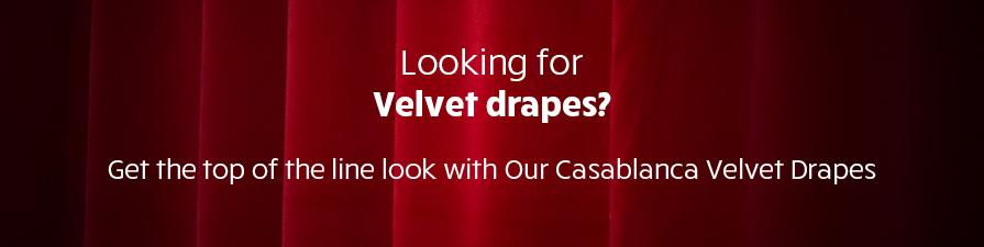 Velvet Casablanca Designer Drape
