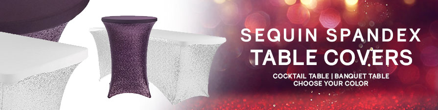 Sequin Spandex Table Covers