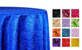 Crushed Satin (Bichon) Tablecloths