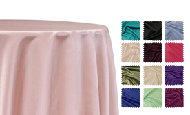 Lamour Dull Satin Tablecloths