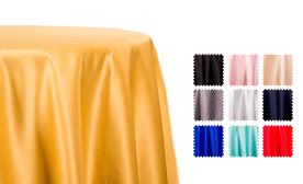 Lamour Matte Satin Tablecloths