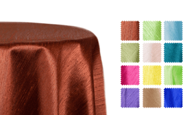 "Shantung Satin ""Capri"" Tablecloths"