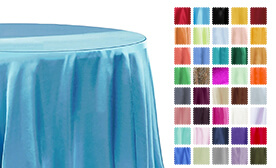 Sleek Satin Tablecloths