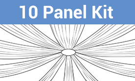 10-Panel Starburst Ceiling Draping Kit