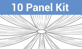 10-Panel Starburst Ceiling Draping Kit