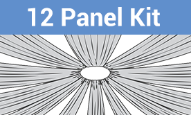 12-Panel Starburst Ceiling Draping Kit