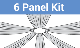 6-Panel Starburst Ceiling Draping Kit