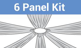6-Panel Starburst Ceiling Draping Kit
