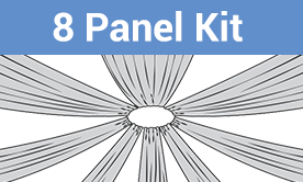 8-Panel Starburst Ceiling Draping Kit