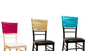 Sequin & Spandex Chair Cuffs