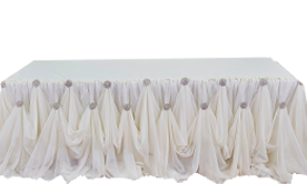 Round Table Skirts Decorator.Wedding Table Skirts Special Events Linens Event Decor Direct